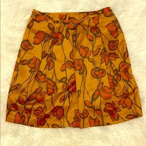 Simply Vera, Copper with Orange Skirt, A-line, 14
